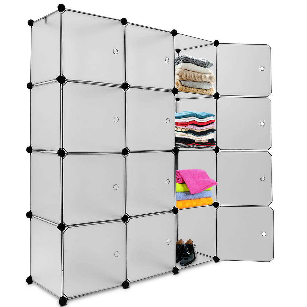 plastic wardrobe storage shelving unit organizer cube box. Black Bedroom Furniture Sets. Home Design Ideas