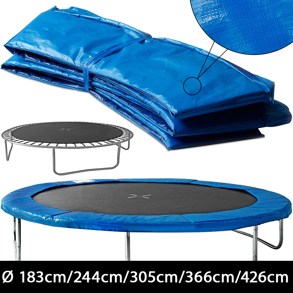 coussin de protection des ressorts pour trampoline 244cm 305cm 366cm 426cm ebay. Black Bedroom Furniture Sets. Home Design Ideas