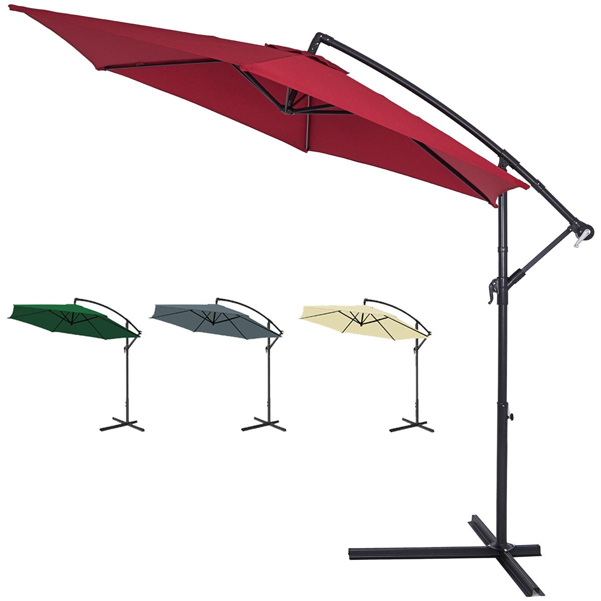 large garden sun parasol 3m shade crank handle hanging. Black Bedroom Furniture Sets. Home Design Ideas
