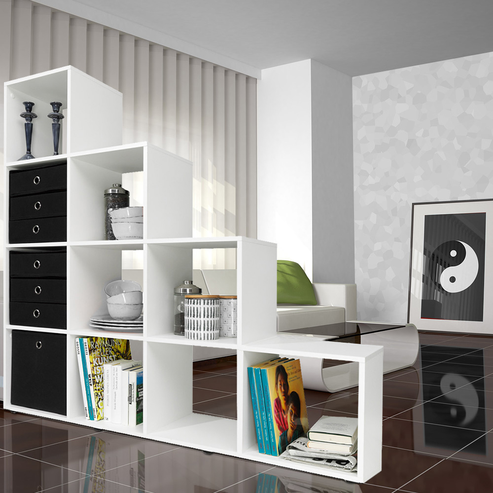 regal treppenregal raumteiler stufenregal b cherregal standregal aktenregal. Black Bedroom Furniture Sets. Home Design Ideas