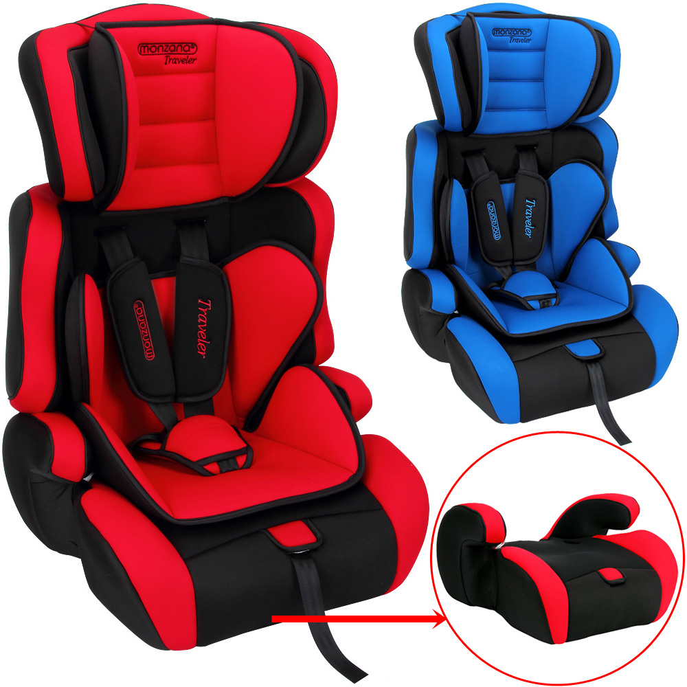 si ge auto enfant si ge rehausseur sport rouge voiture rembourr ebay. Black Bedroom Furniture Sets. Home Design Ideas