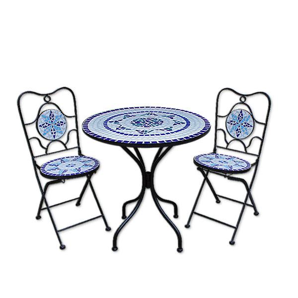 mosaik gartentisch und stühle