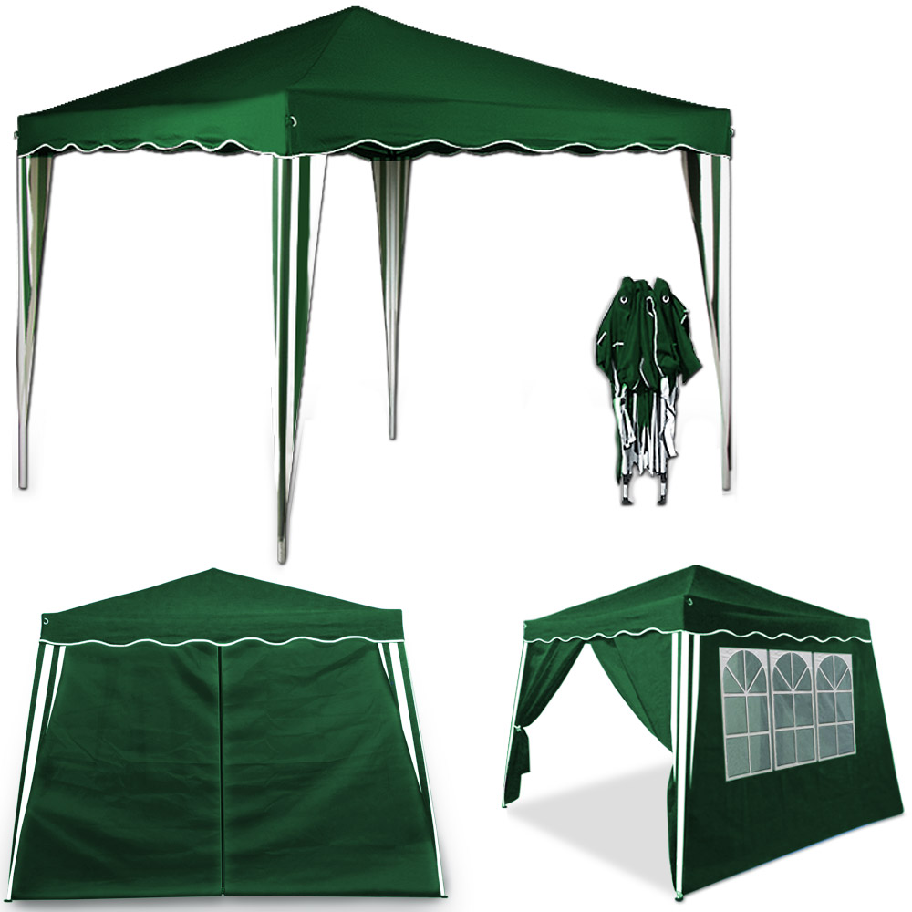 pop up gazebo 3x3m with 4x side walls panells folding tent. Black Bedroom Furniture Sets. Home Design Ideas