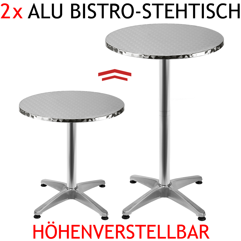 2 x aluminium stehtisch bistrotisch gartentisch bartisch. Black Bedroom Furniture Sets. Home Design Ideas