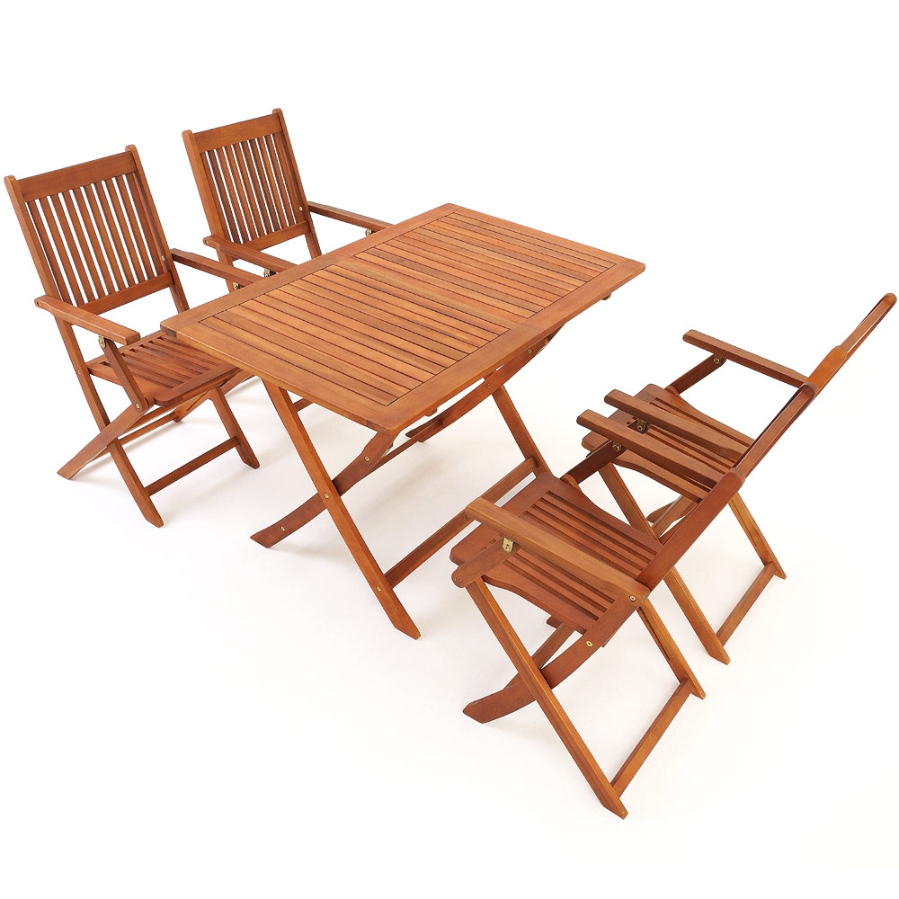 Garden Table And Chairs Set Wood: Wooden Garden Table & Chairs Set Sydney Acacia Wood