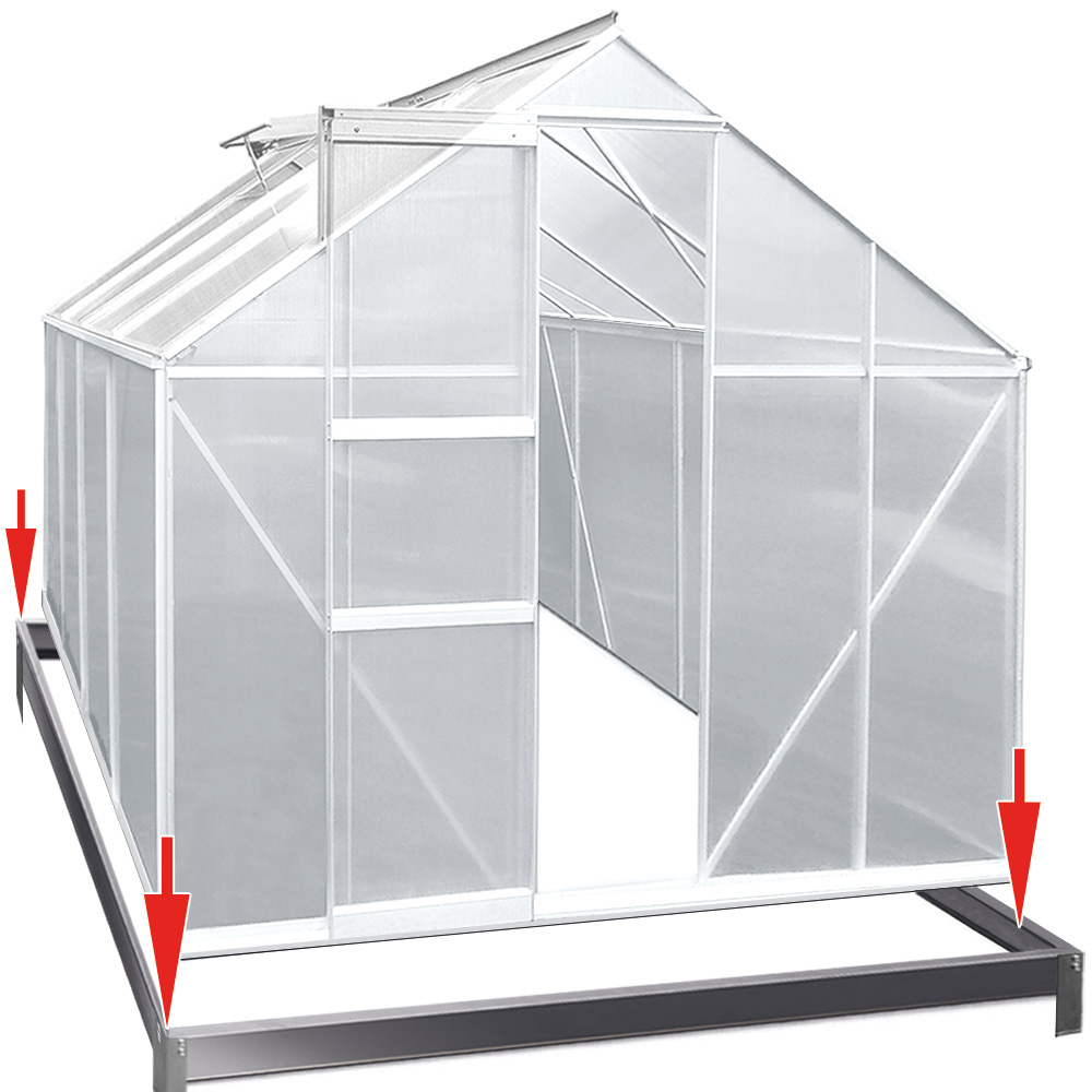 gew chshaus mit fundament treibhaus gartenhaus tomatenhaus fr hbeet alu 11 38m ebay. Black Bedroom Furniture Sets. Home Design Ideas