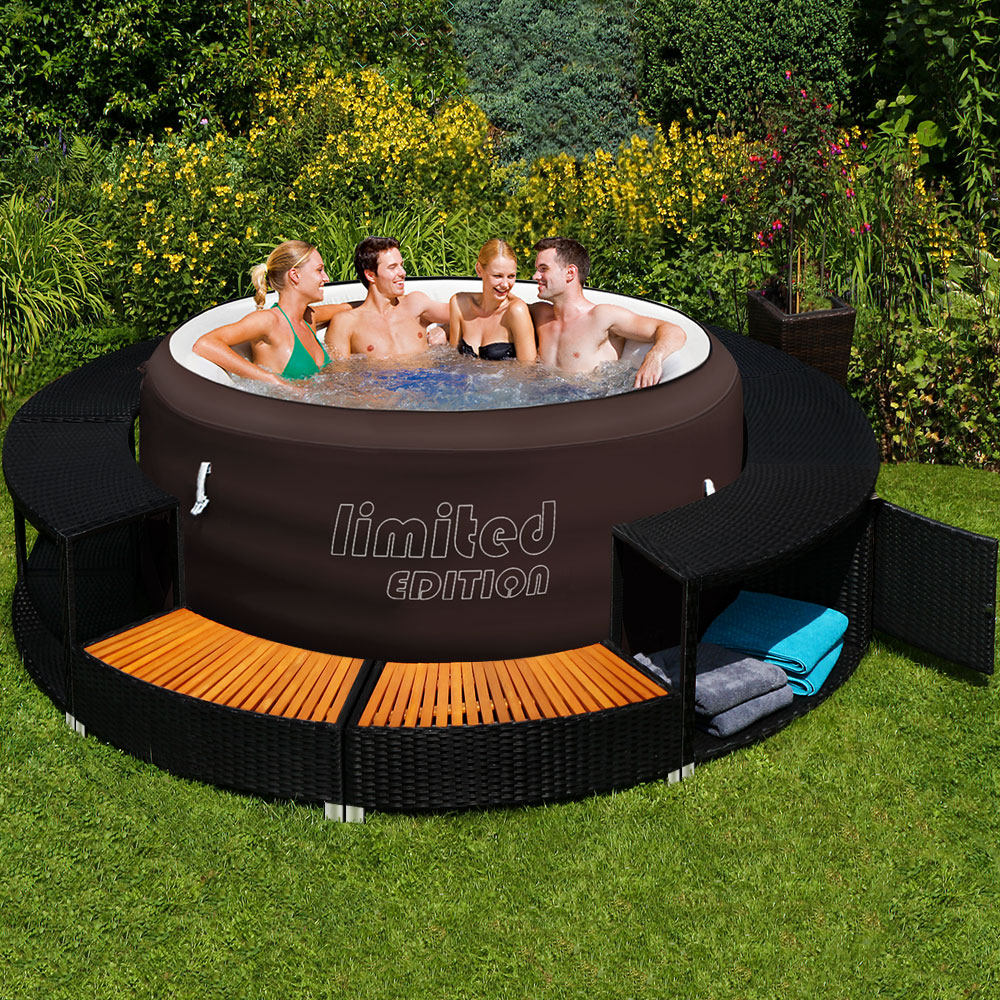 bestway lay z spa jacuzzi whirlpool poolumrandung. Black Bedroom Furniture Sets. Home Design Ideas