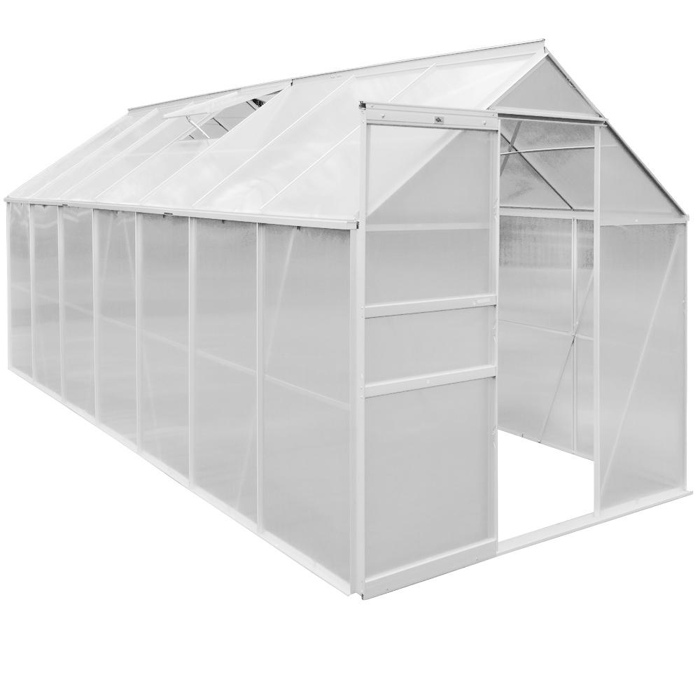 greenhouse large polycarbonate hothouse slide door. Black Bedroom Furniture Sets. Home Design Ideas