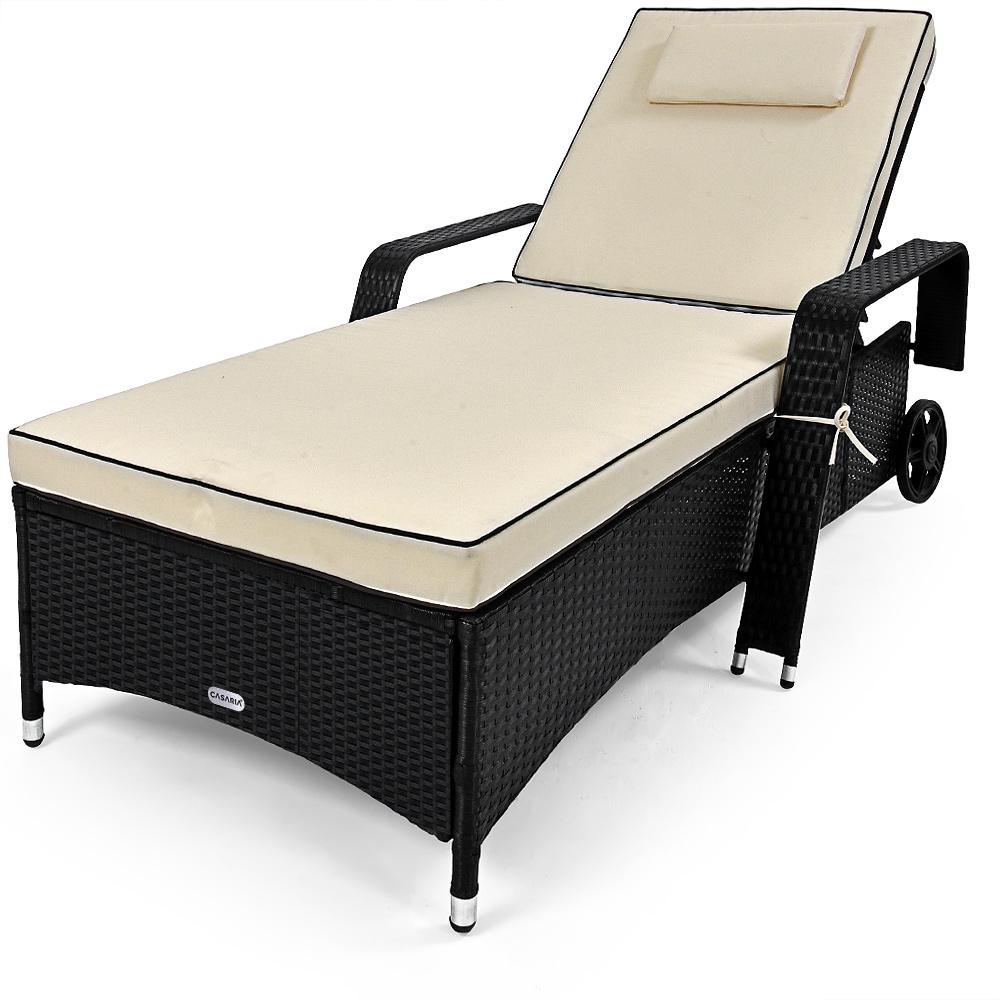 polyrattan sonnenliege garten rattan liege gartenliege. Black Bedroom Furniture Sets. Home Design Ideas