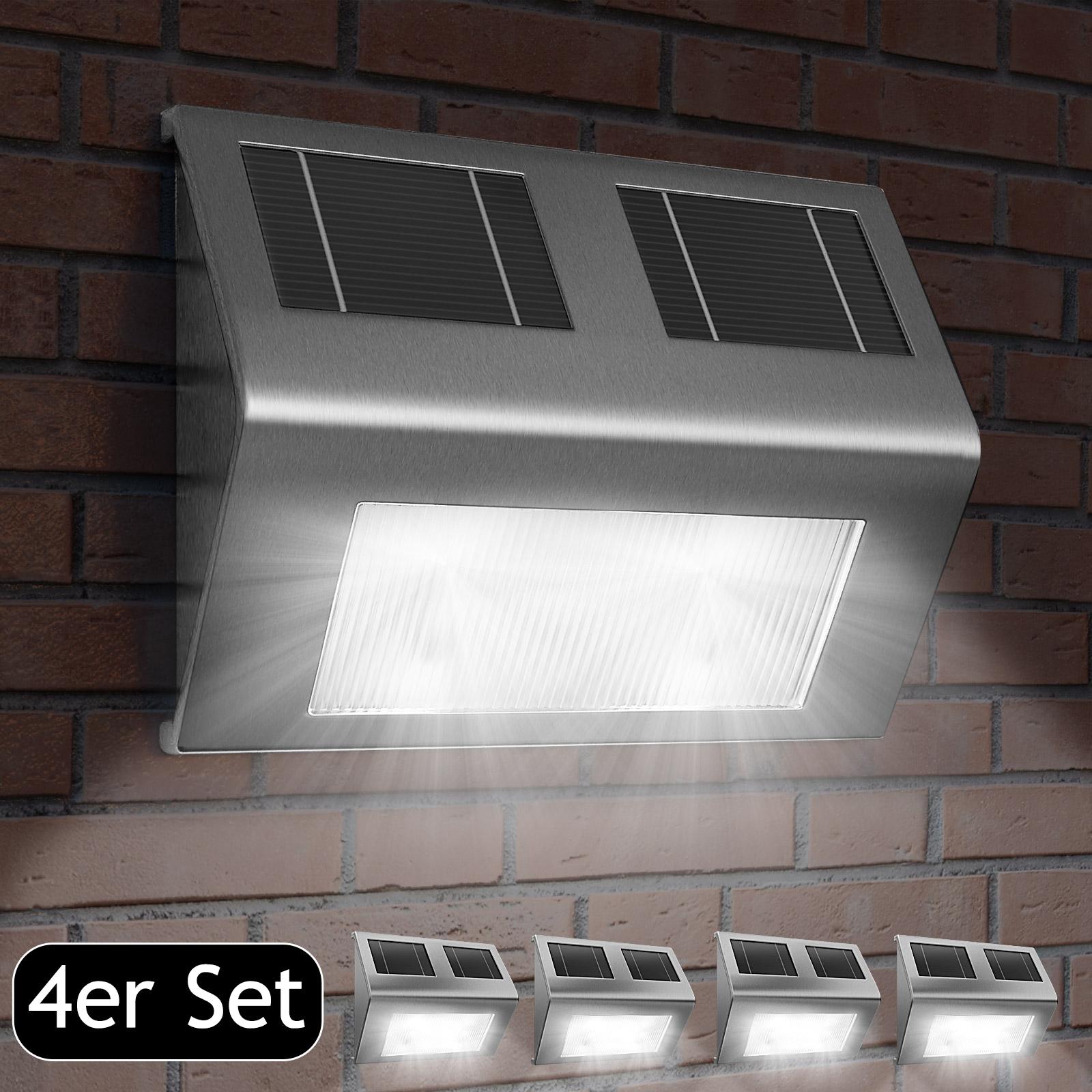 applique lampe murale solaire 4x lumi re nergie solaire. Black Bedroom Furniture Sets. Home Design Ideas