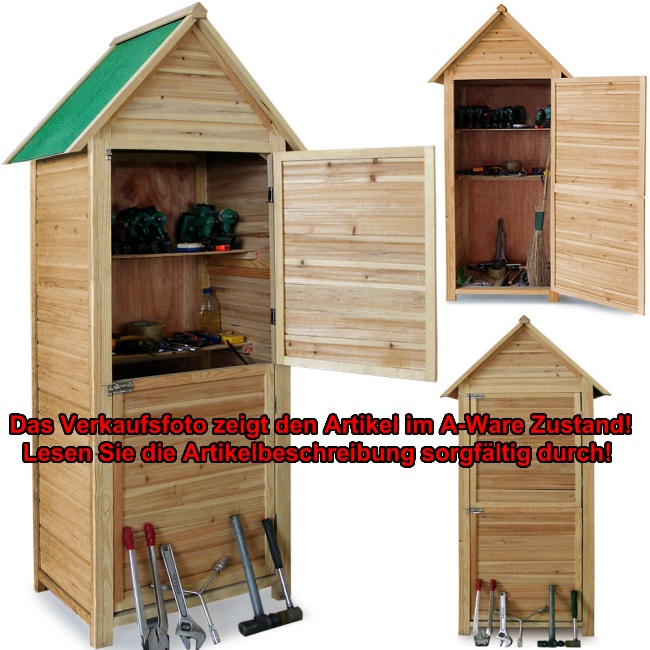 b ware gartenhaus ger tehaus holz ger teschuppen schuppen ger teschrank garten ebay. Black Bedroom Furniture Sets. Home Design Ideas