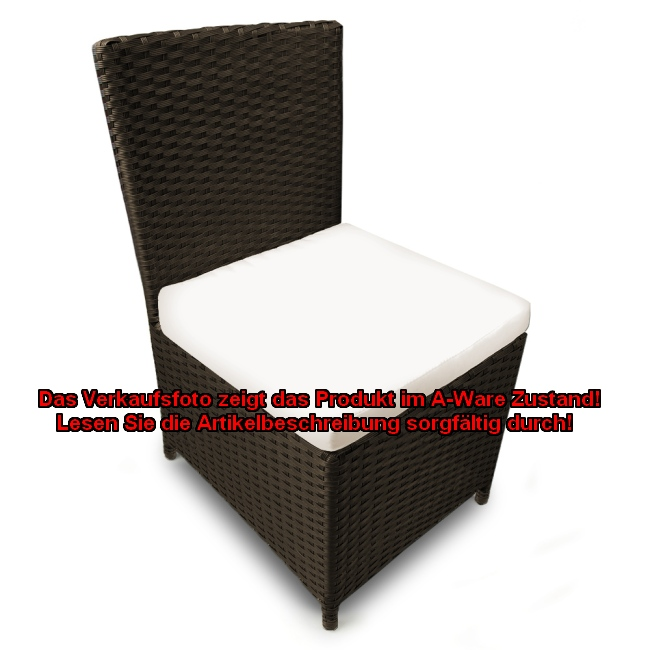 b ware 2x rattan stuhl hocker sitzkissen auflage f r. Black Bedroom Furniture Sets. Home Design Ideas