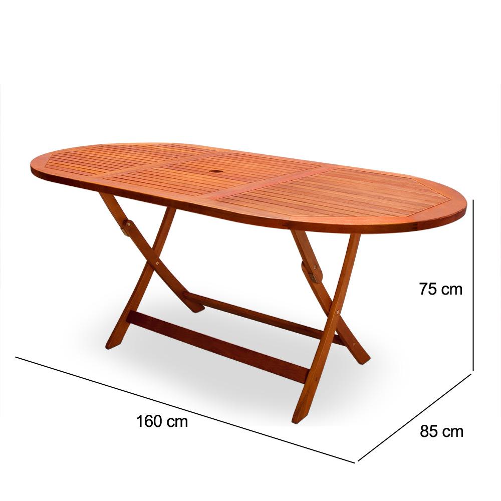 Gartentisch Esstisch Garten Tisch Gartenmöbel Holztisch Eukalyptus ...