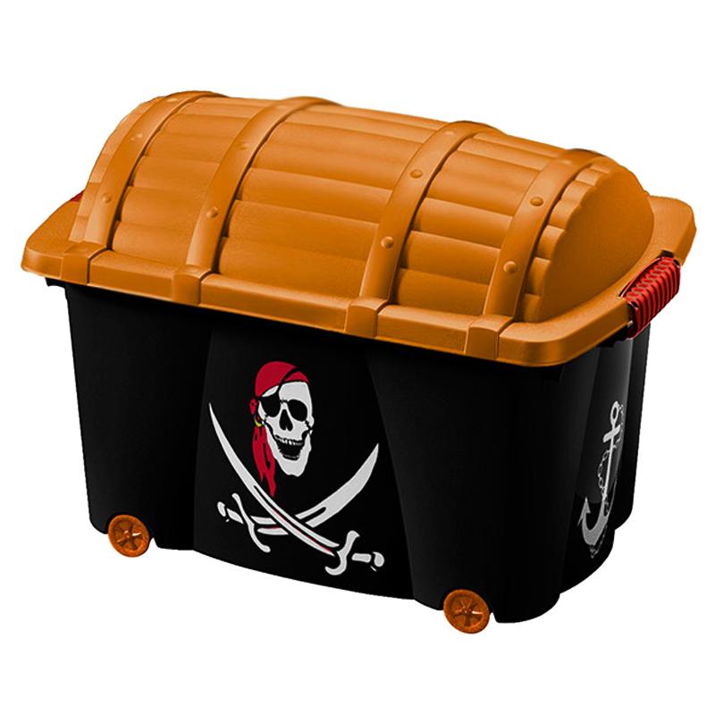 Bo te de rangement motif pirate f e avec couvercle jouets enfants v tements ebay - Boite de rangement vetement ...