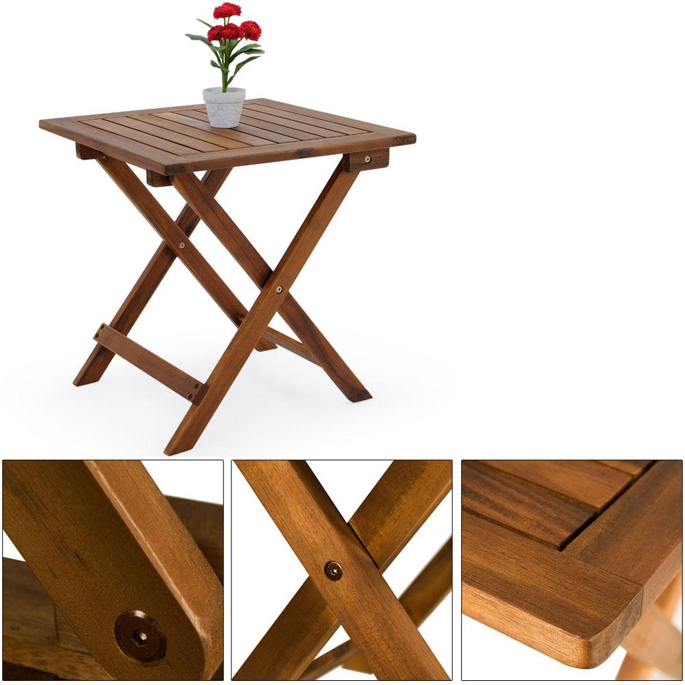 Deuba Table basse pliante en bois Tables jardin dappoint ...