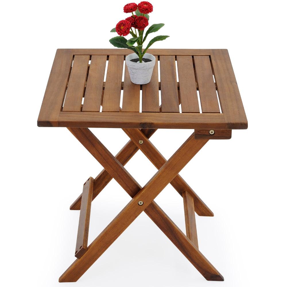 Akazienholz Tisch Garten ~ Beistelltisch klapptisch wohnzimmertisch couchtisch tisch