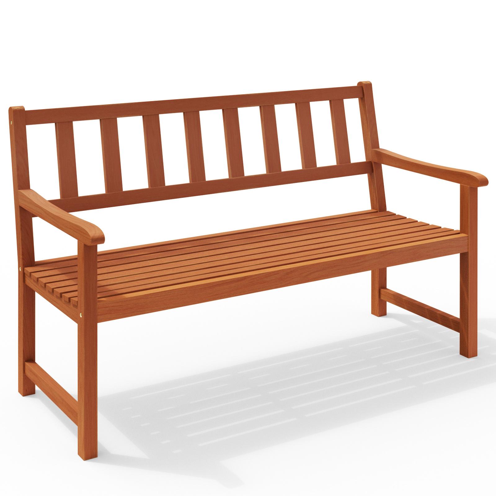 banc de jardin en bois dur acacia 120cm banc balcon terasse meuble jardin fsc ebay. Black Bedroom Furniture Sets. Home Design Ideas