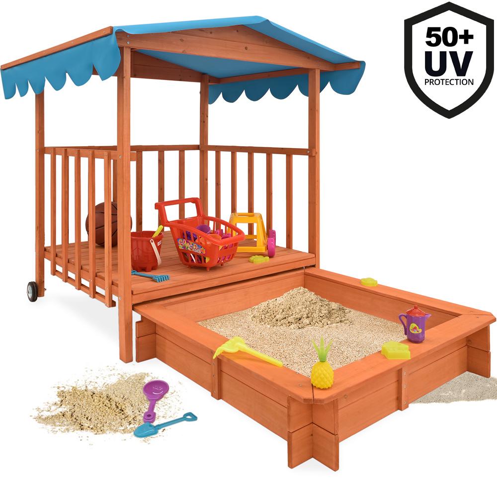 sandkasten holz spielhaus sandbox sandkiste buddelkiste. Black Bedroom Furniture Sets. Home Design Ideas