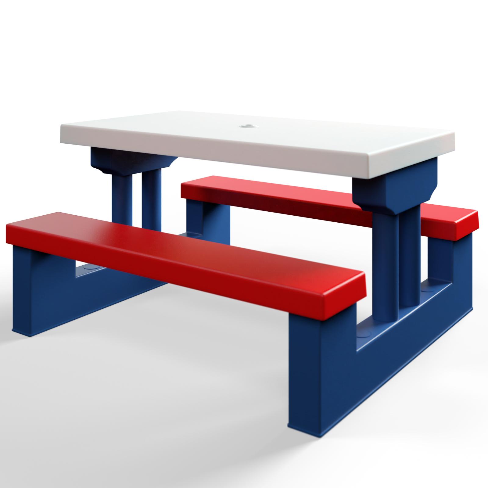 kindersitzgruppe sitzgarnitur kinder kinderm bel garten tisch bank sonnenschirm ebay. Black Bedroom Furniture Sets. Home Design Ideas