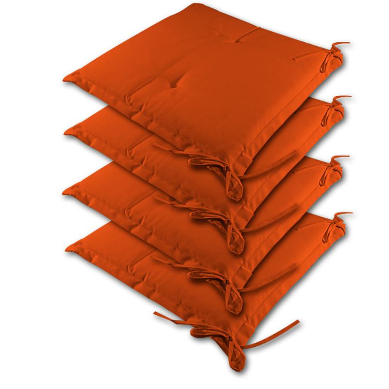 """88100105 4x Auflage Sitzkissen """"Sydney"""" orange"""