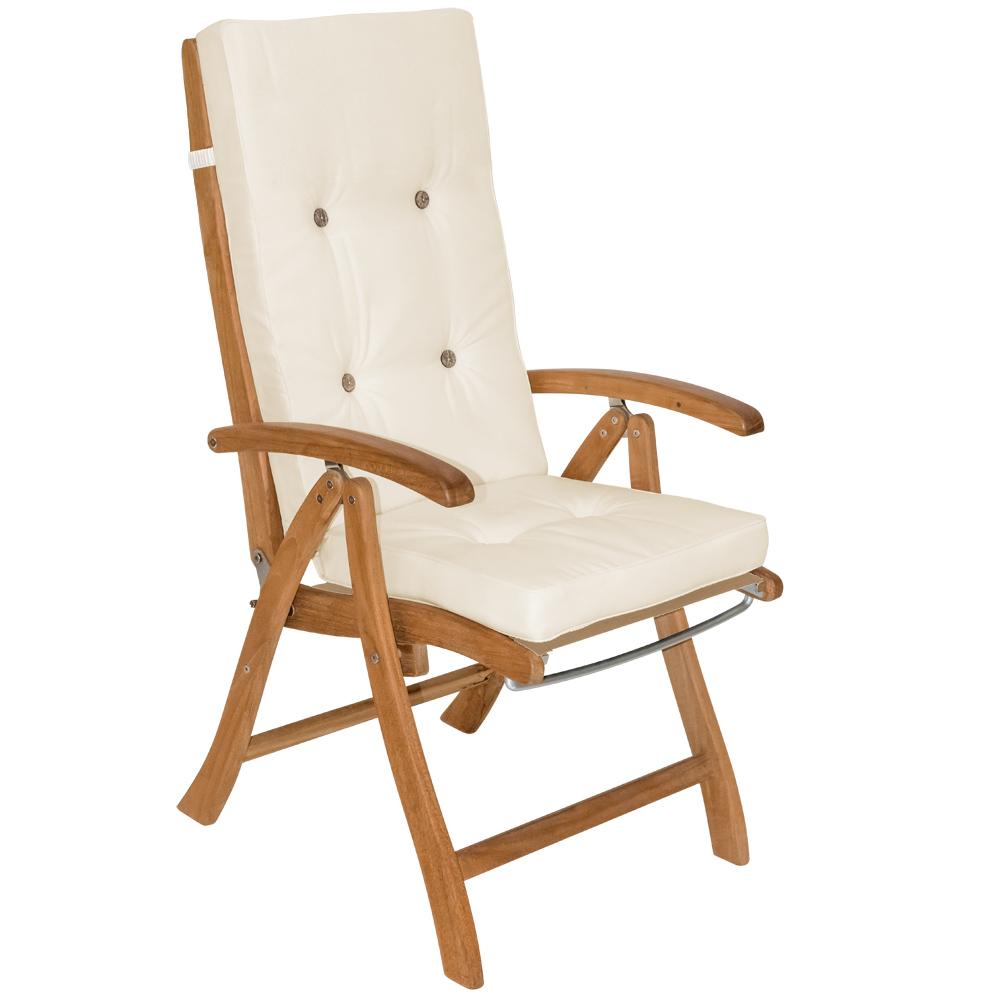 88100222 Sitzkissen für Hochlehner creme 6x