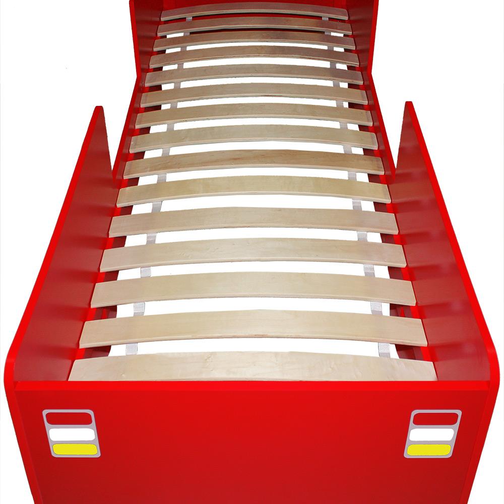 Lit enfant design camion pompier avec sommier lattes - Lit design italien avec sommier inclus ...