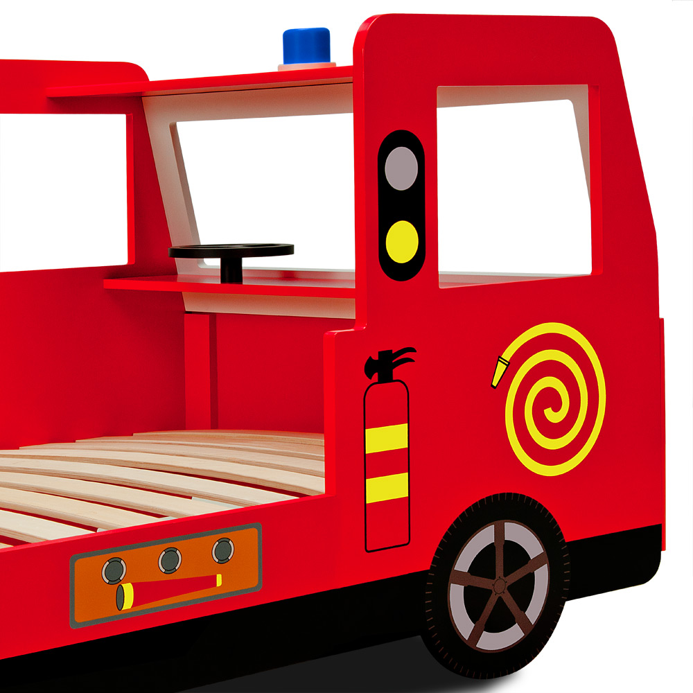 Kids Fire Engine Bed Frame Truck Single Bed Car Red ...