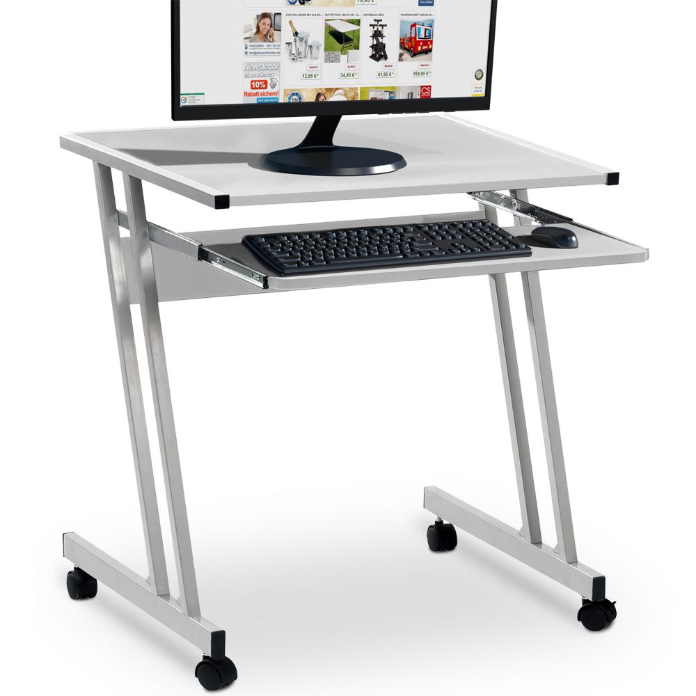 computertisch computerwagen pc tisch tastaturauszug schreibtisch b rom bel ebay. Black Bedroom Furniture Sets. Home Design Ideas
