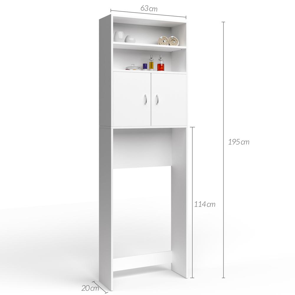 Deuba armario para la lavadora mueble de ba o armario alto para ba o 195x63cm ebay - Armario para lavadora ...