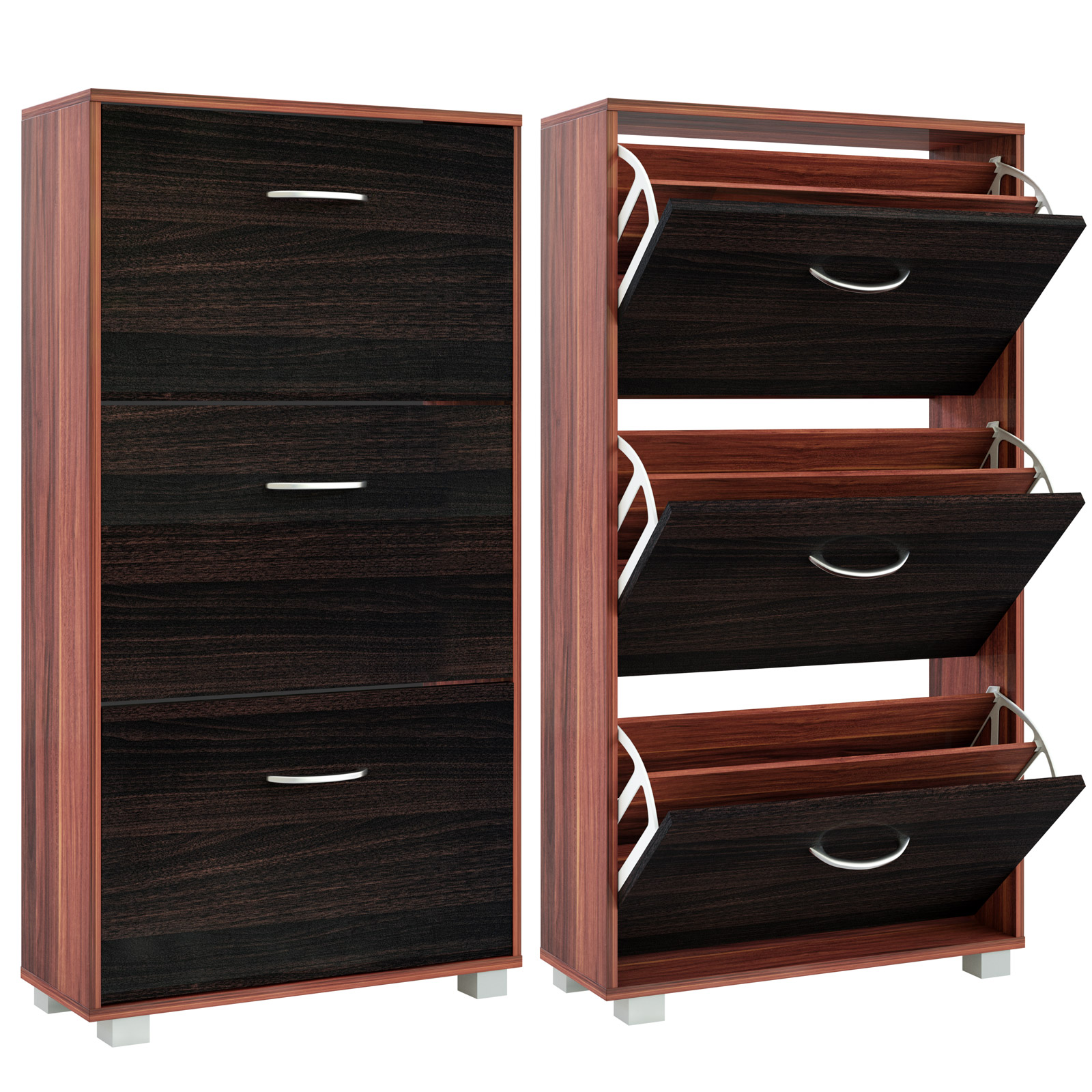 b ware schuhschrank merano schwarz 302899 schuhregal. Black Bedroom Furniture Sets. Home Design Ideas