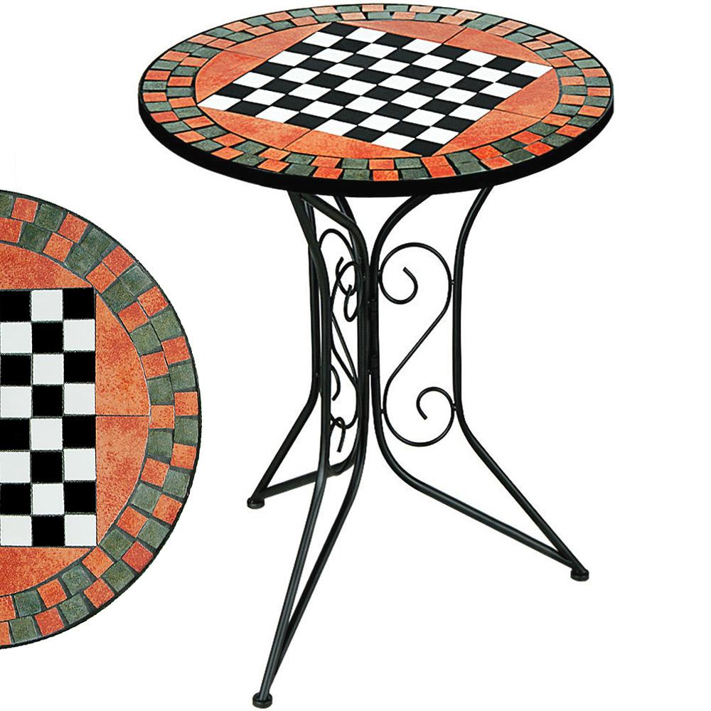 88100546 Mosaiktisch Schachbrett