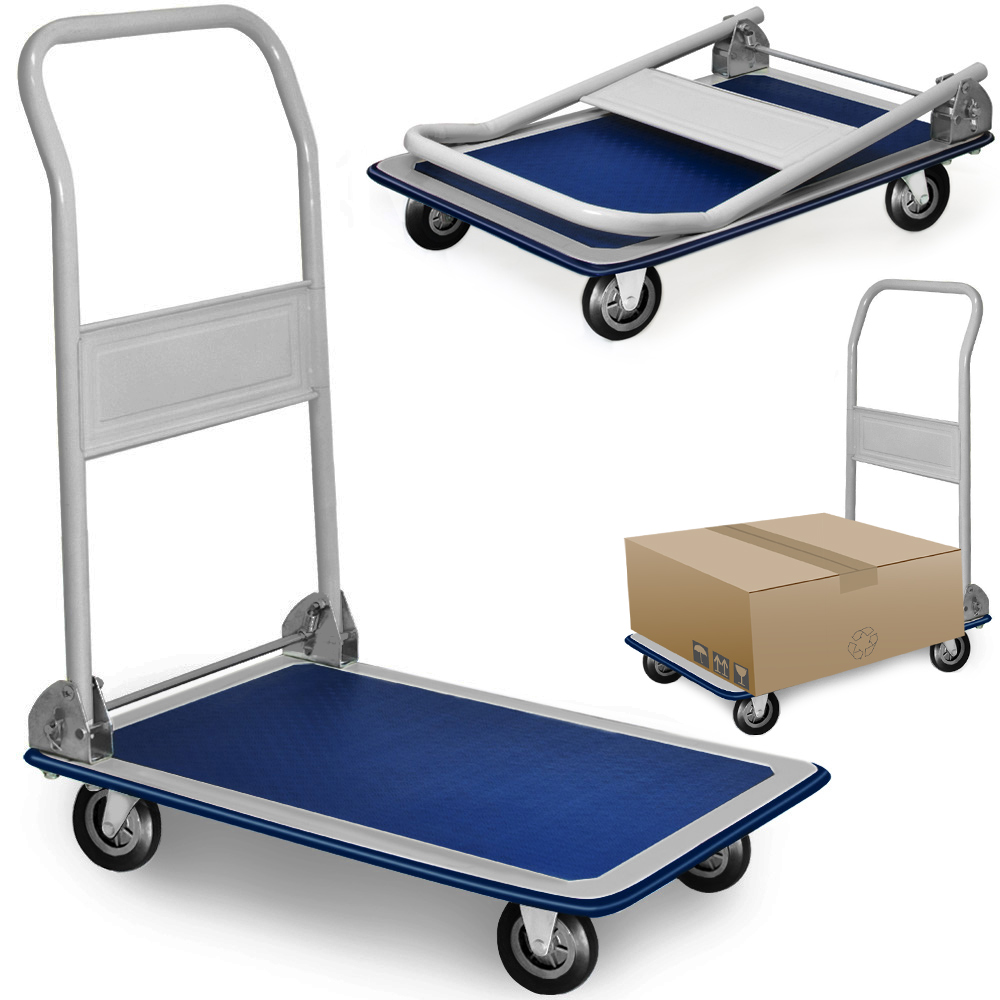 chariot de transport 150 kg diable platforme pliable roues en caoutchouc plateau ebay. Black Bedroom Furniture Sets. Home Design Ideas