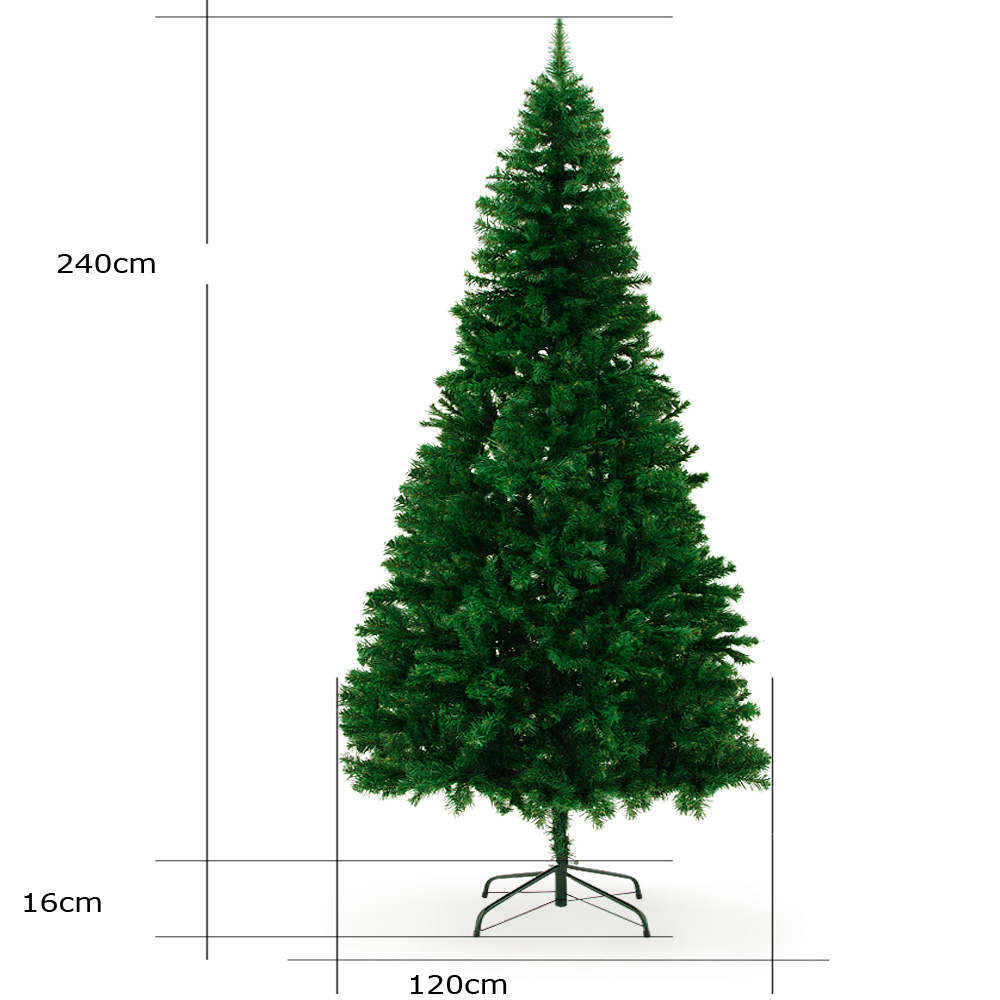 arbre de noel sapin artificiel 240cm 1057 branches pied en m tal conomique ebay. Black Bedroom Furniture Sets. Home Design Ideas