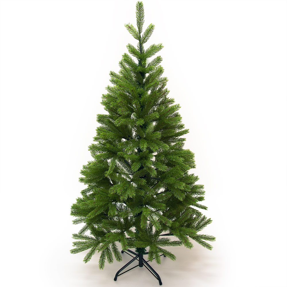 Arbre de noel sapin artificiel 140cm 470 branches pied for Arbre artificiel de noel