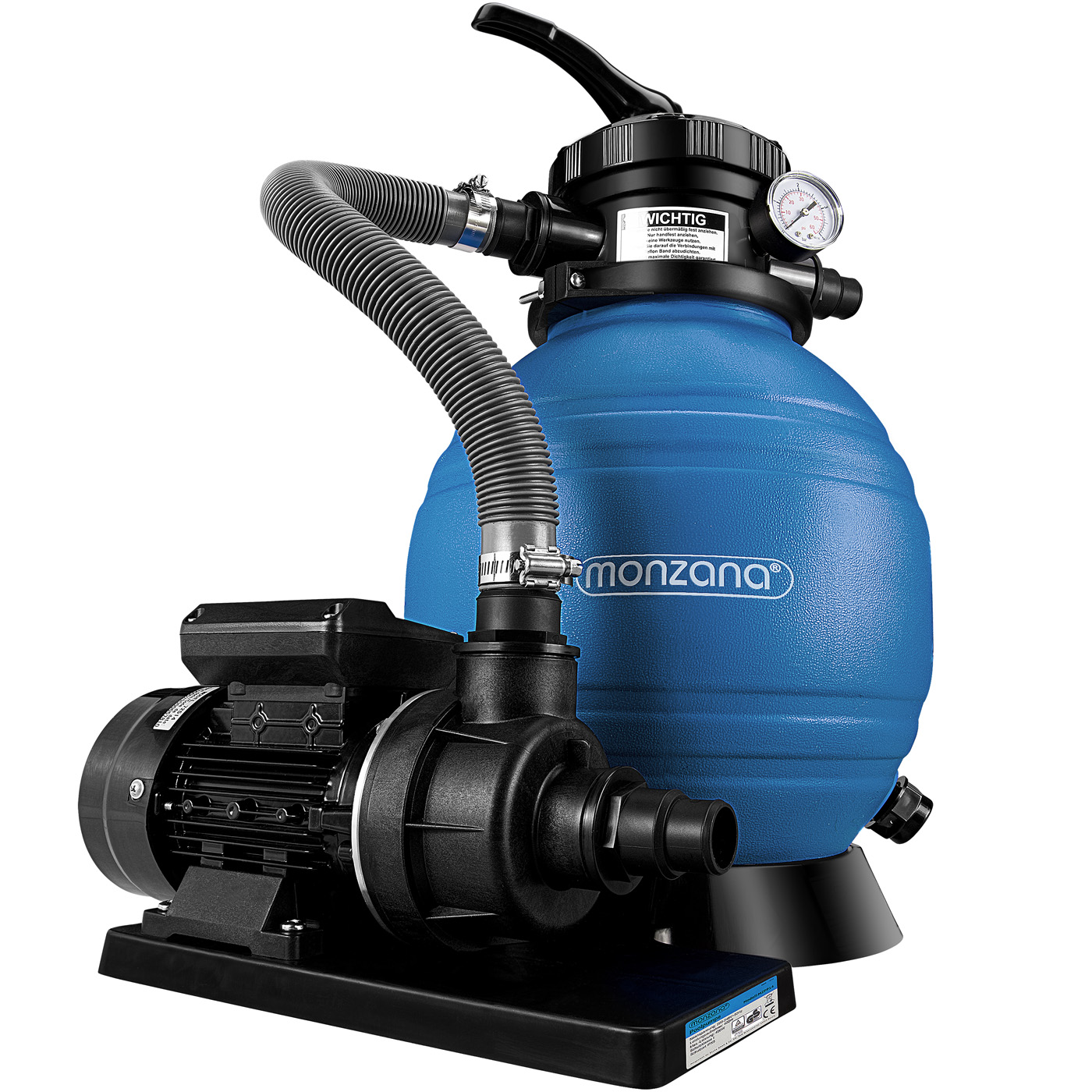 Pompe filtre sable et particule 10200 l h avec sa pompe - Fonctionnement filtre a sable piscine ...