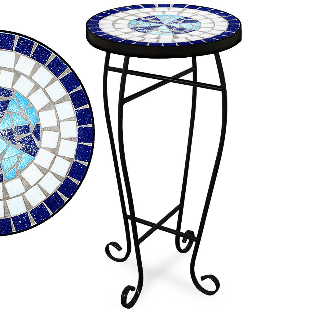 88100942 Mosaiktisch 62 cm x 34 cm blau