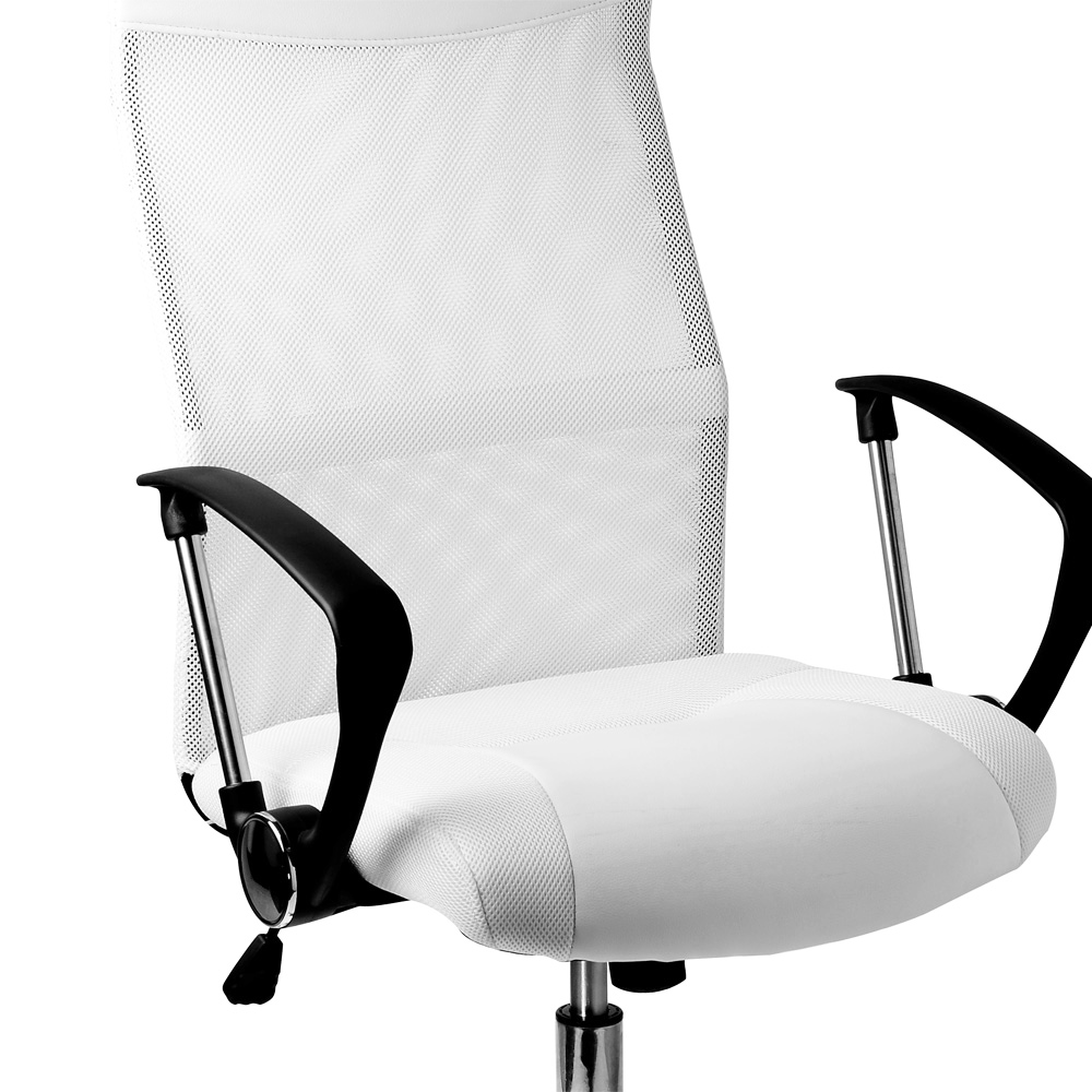 fauteuil chaise de bureau blanche inclinable ergonomique design moderne ebay. Black Bedroom Furniture Sets. Home Design Ideas