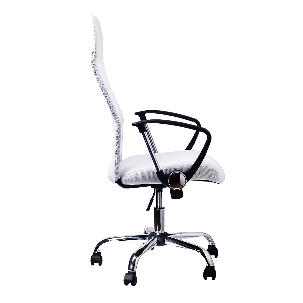 fully adjustable office chair. Office Chair Mesh \u0026 PU Leather - Fully Adjustable White