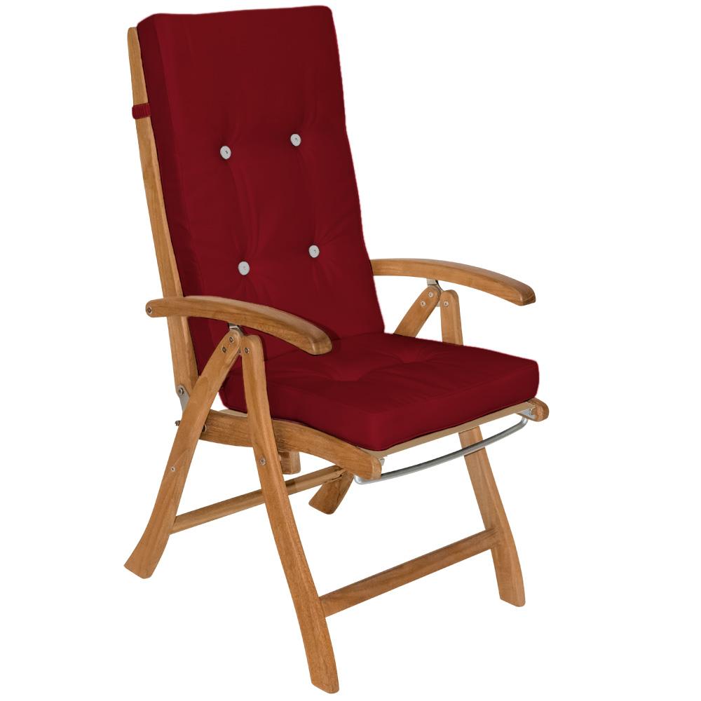 88100977 Sitzkissen für Hochlehner rot 6x