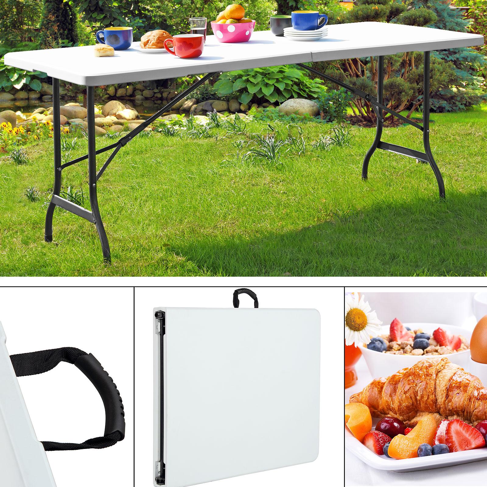Klapptisch Tisch 240cm Xxl Gartentisch Campingtisch Esstisch