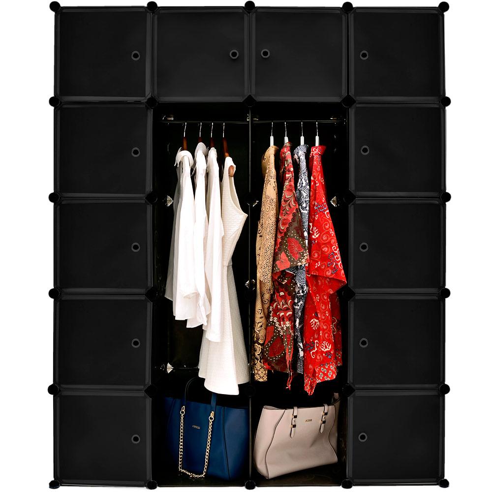 monzana kleiderschrank diy schrank regalsystem steckregal garderobe schuhregal ebay. Black Bedroom Furniture Sets. Home Design Ideas