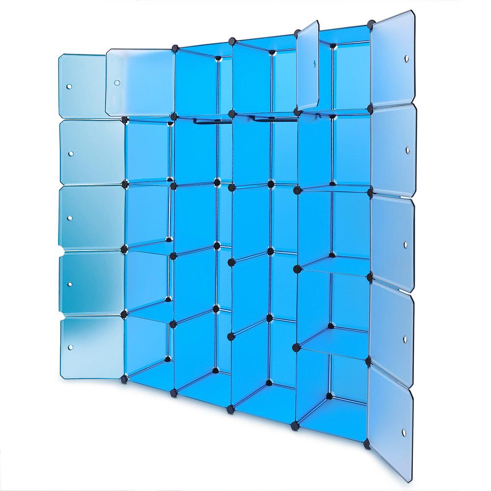 regalsystem schuhregal steckregal diy schuhschrank kleiderschrank regal blau 4250525307337 ebay. Black Bedroom Furniture Sets. Home Design Ideas