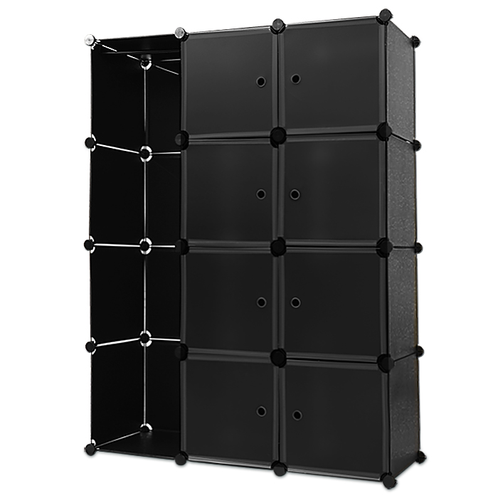 b ware regal schrank 150 x 115 kleiderschrank steckregal bad schwarz ebay. Black Bedroom Furniture Sets. Home Design Ideas