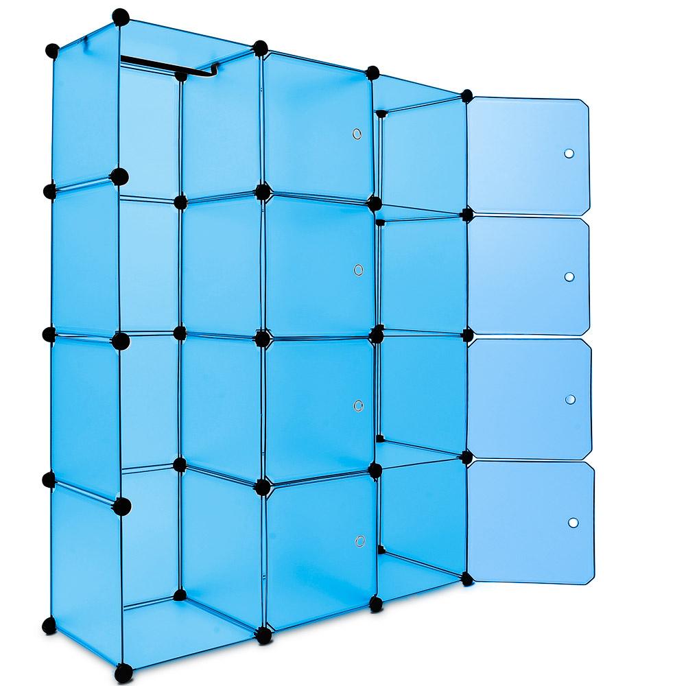88101236 Regal Kunststoffboxen Medium blau