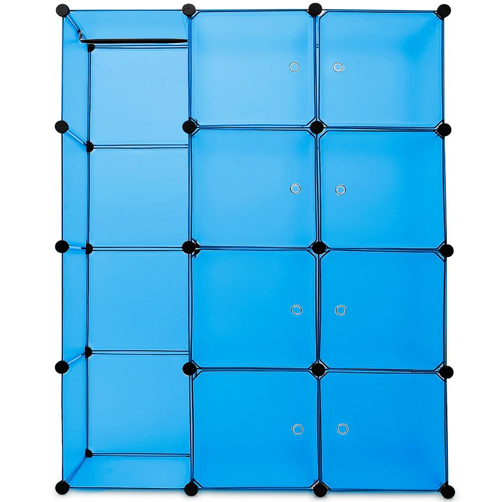 regalsystem schuhregal steckregal diy schuhschrank kleiderschrank regal bad blau ebay. Black Bedroom Furniture Sets. Home Design Ideas