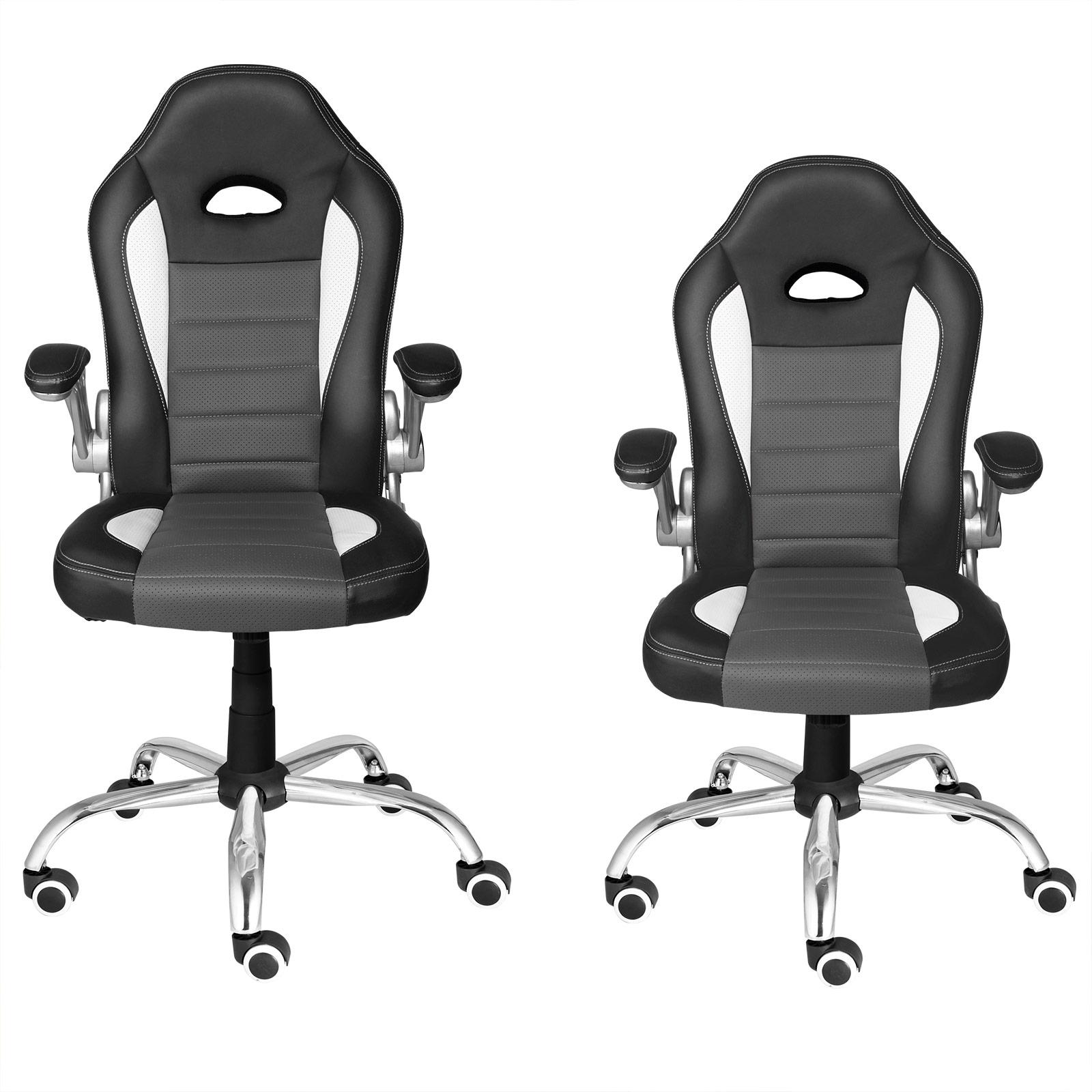 chaise de bureau en pu si ge fauteuil rembourrage pais hauteur r glable ebay. Black Bedroom Furniture Sets. Home Design Ideas