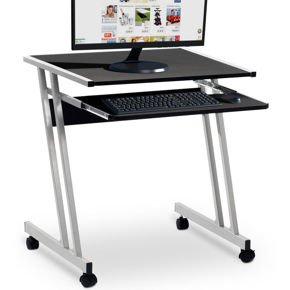 88101310 Computertisch mit Tastaturauszug schwarz