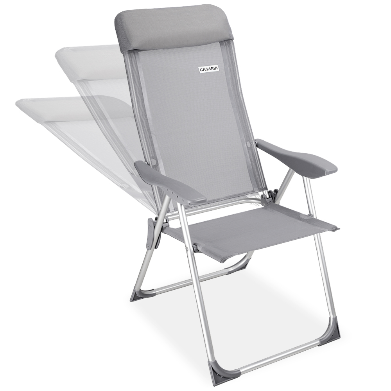4er set alu gartenstuhl hochlehner klappstuhl campingstuhl stuhl aluminium grau ebay. Black Bedroom Furniture Sets. Home Design Ideas