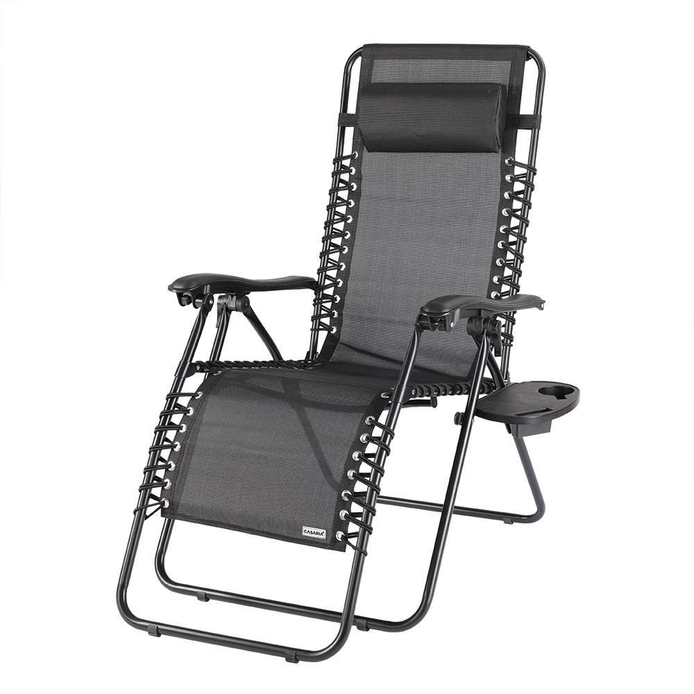 Chaise longue pliante jardin transat m tal toile repose for Chaise transat de jardin