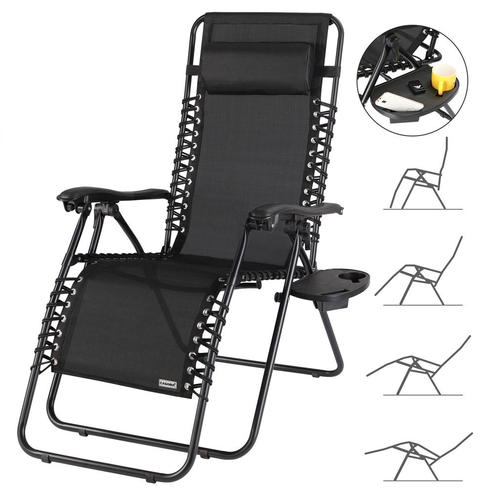 Chaise longue pliante jardin transat m tal toile repose for Toile de chaise longue